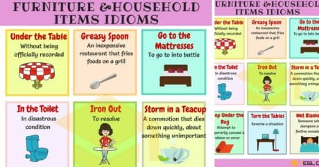 20+ Furniture and Household Items Idioms in English 3