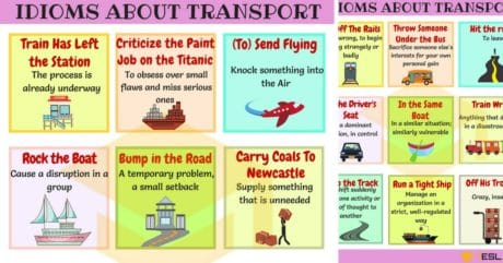 60+ Useful Transport Idioms with Meaning and Examples 8