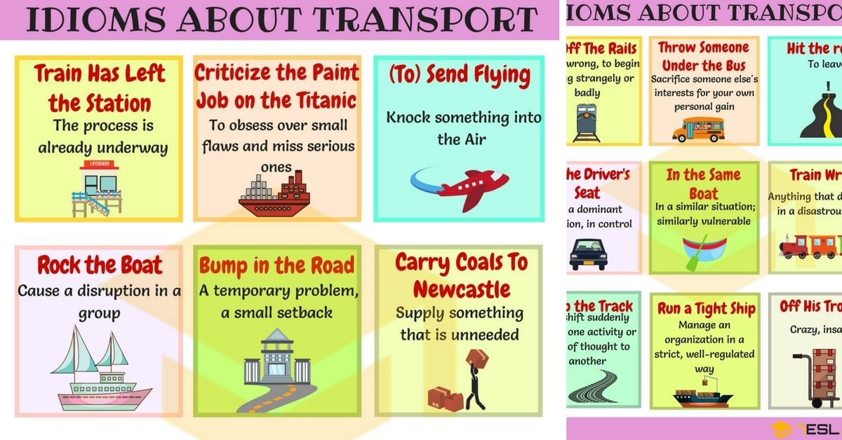 60 Useful Transport Idioms With Meaning And Examples 7 E S L