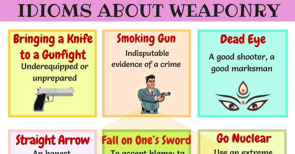 25+ Useful Weapons Idioms, Sayings and Phrases 1
