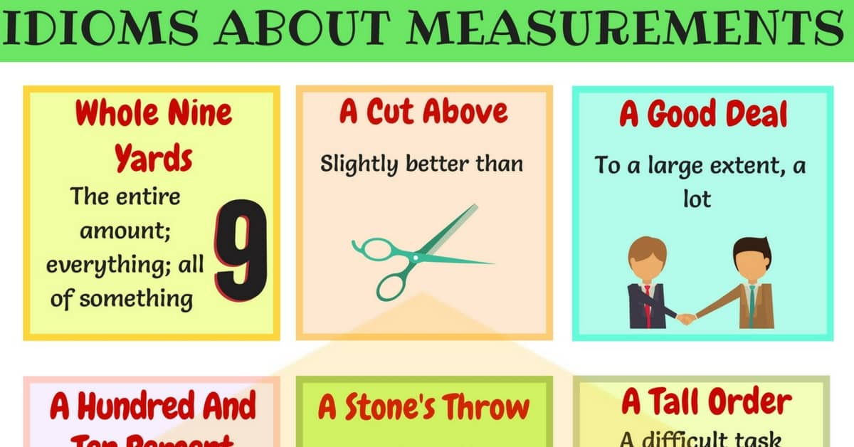 15+Useful Idioms about Measurement in English 1