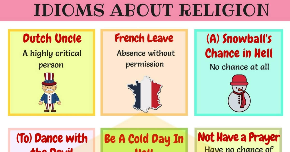 Useful Religion and Ethnicity Idioms and Phrases 1