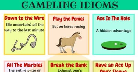 List of 30+ Common Gambling Idiomsin English 9