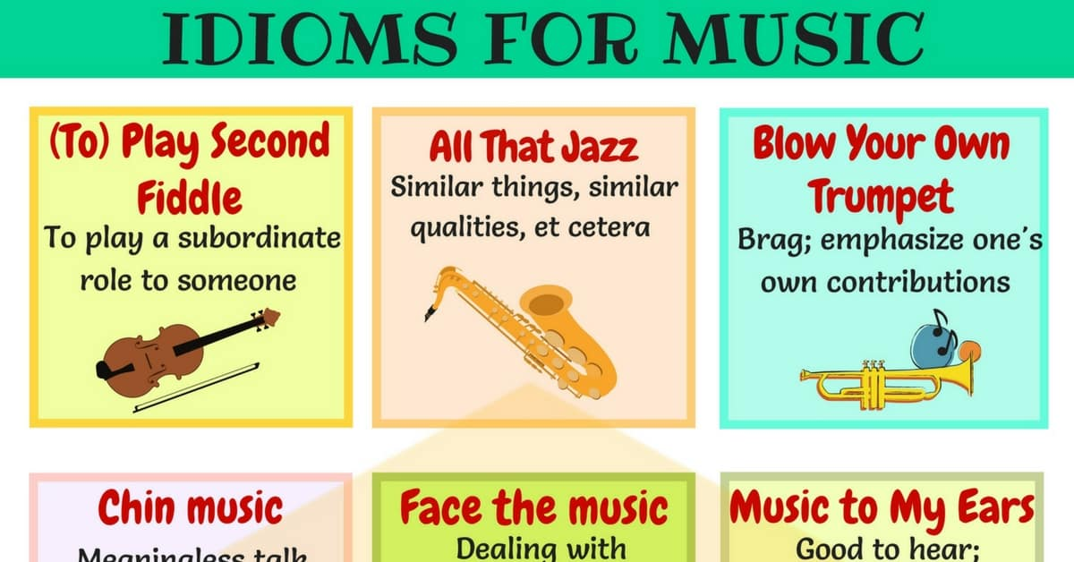 30 Useful Music Idioms, Sayings and Phrases in English 1