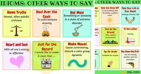 55+ Common Idiomatic Expressions | Other Ways to Say 62