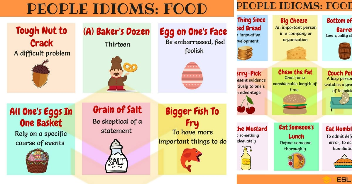 70 Food Idioms With Meaning And Examples In English 7 E S L