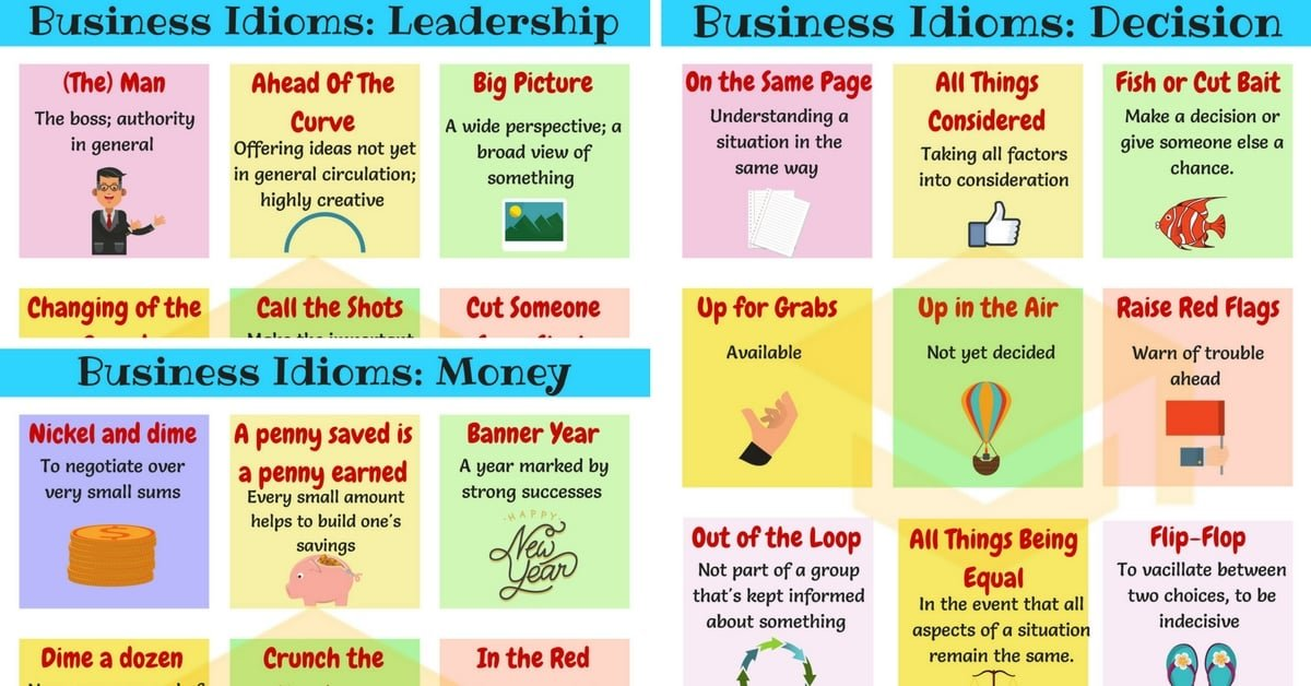 Business Idioms: 110+ Useful Business Idioms & Sayings 1