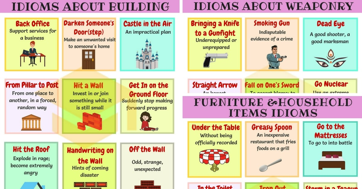 Useful Idioms about Building and Technology in English 1