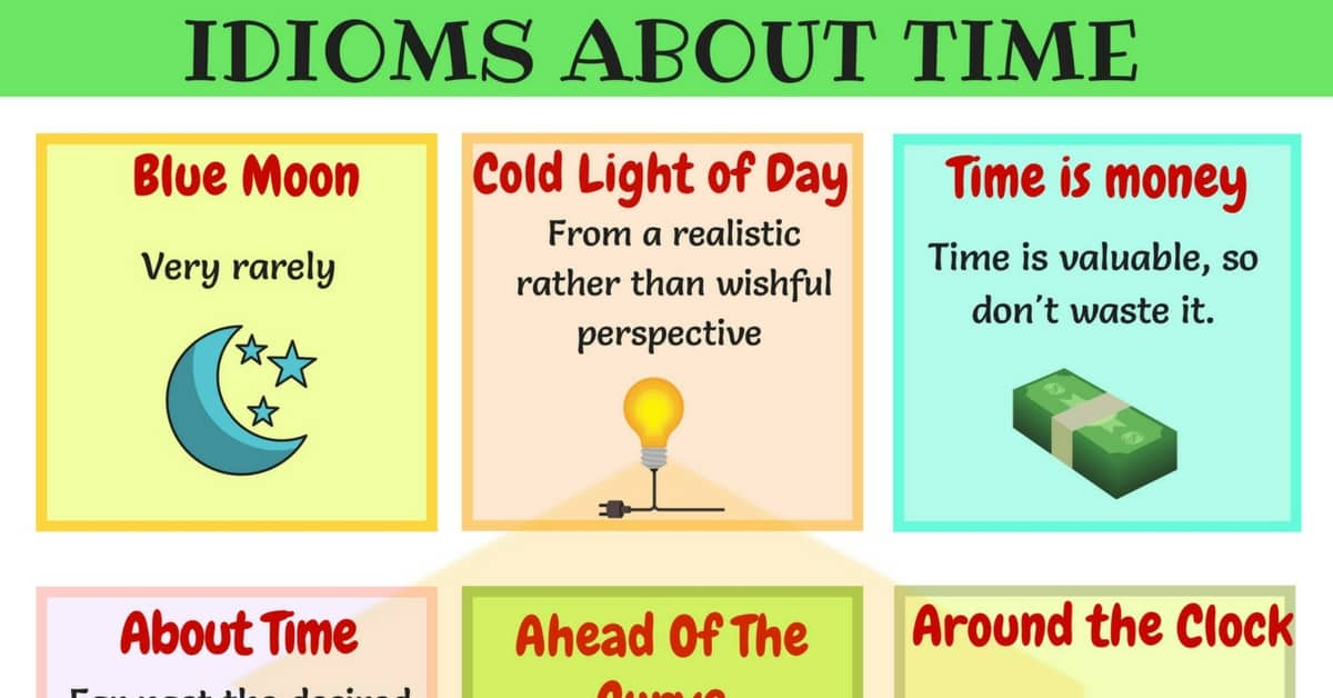 TIME Idioms: 40+ Useful Sayings and Idioms about Time 1
