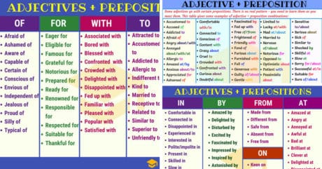 Common Adjective & Preposition Combinations in English 39