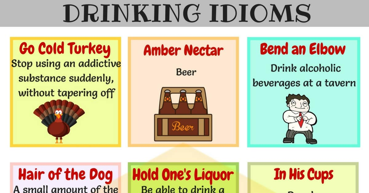 15 Useful Drinking Idioms With Meaning And Examples 7 E S L