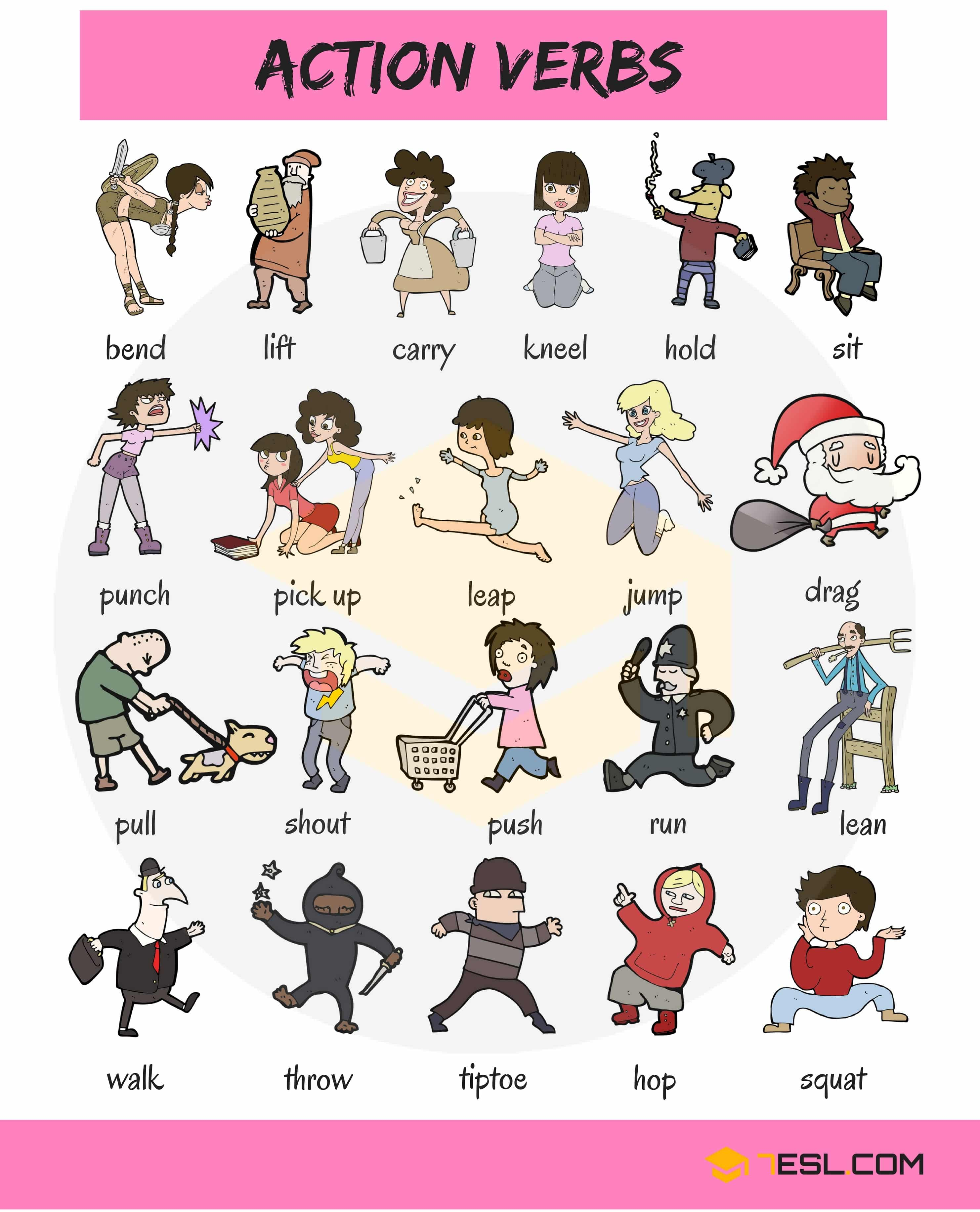 action verbs picture 1