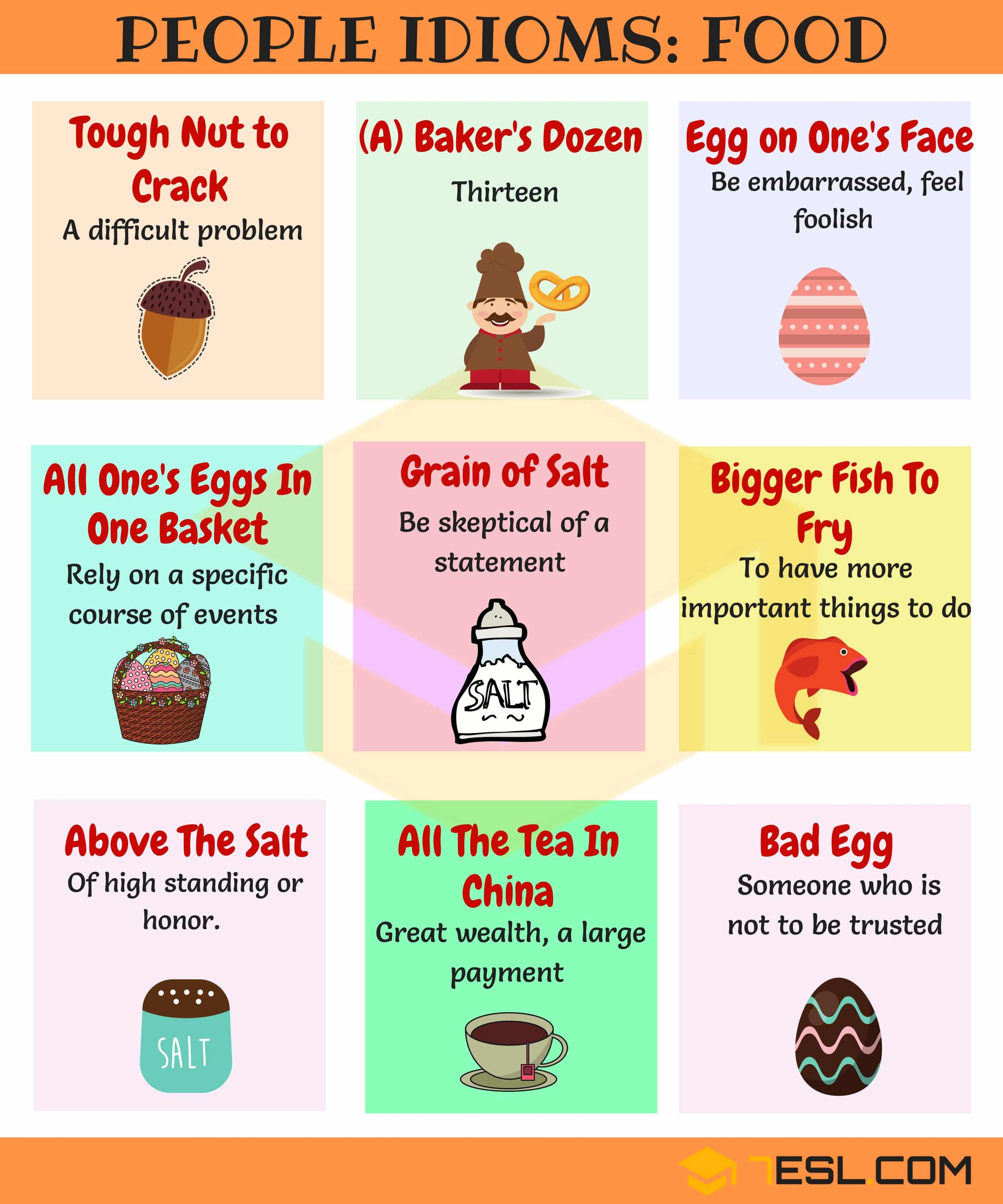 Commonly Used People Idioms in English 5