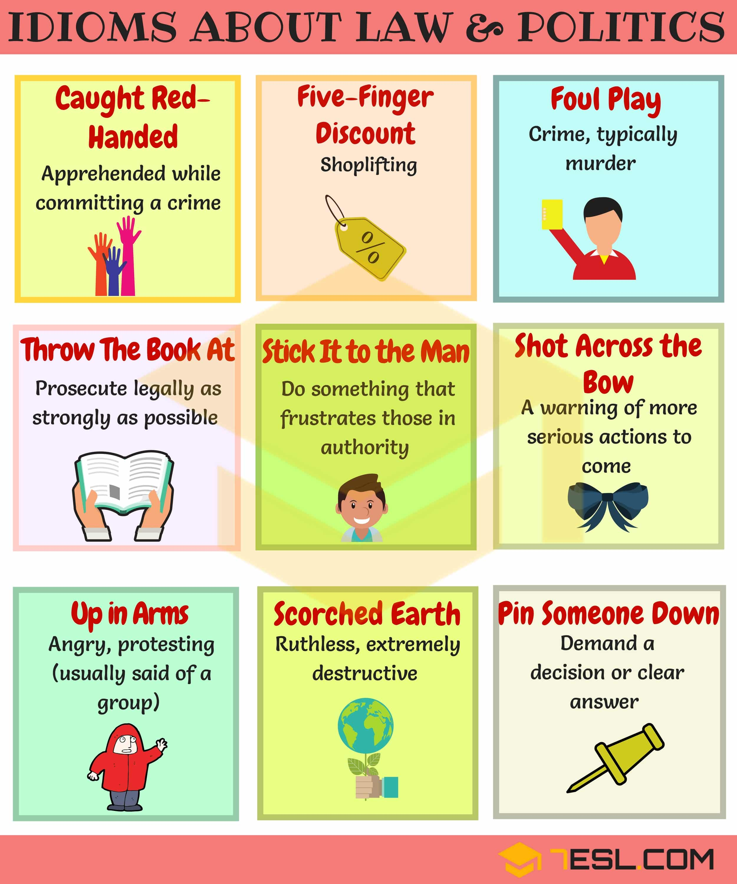 Common Idioms about Politics in English | Politics Idioms
