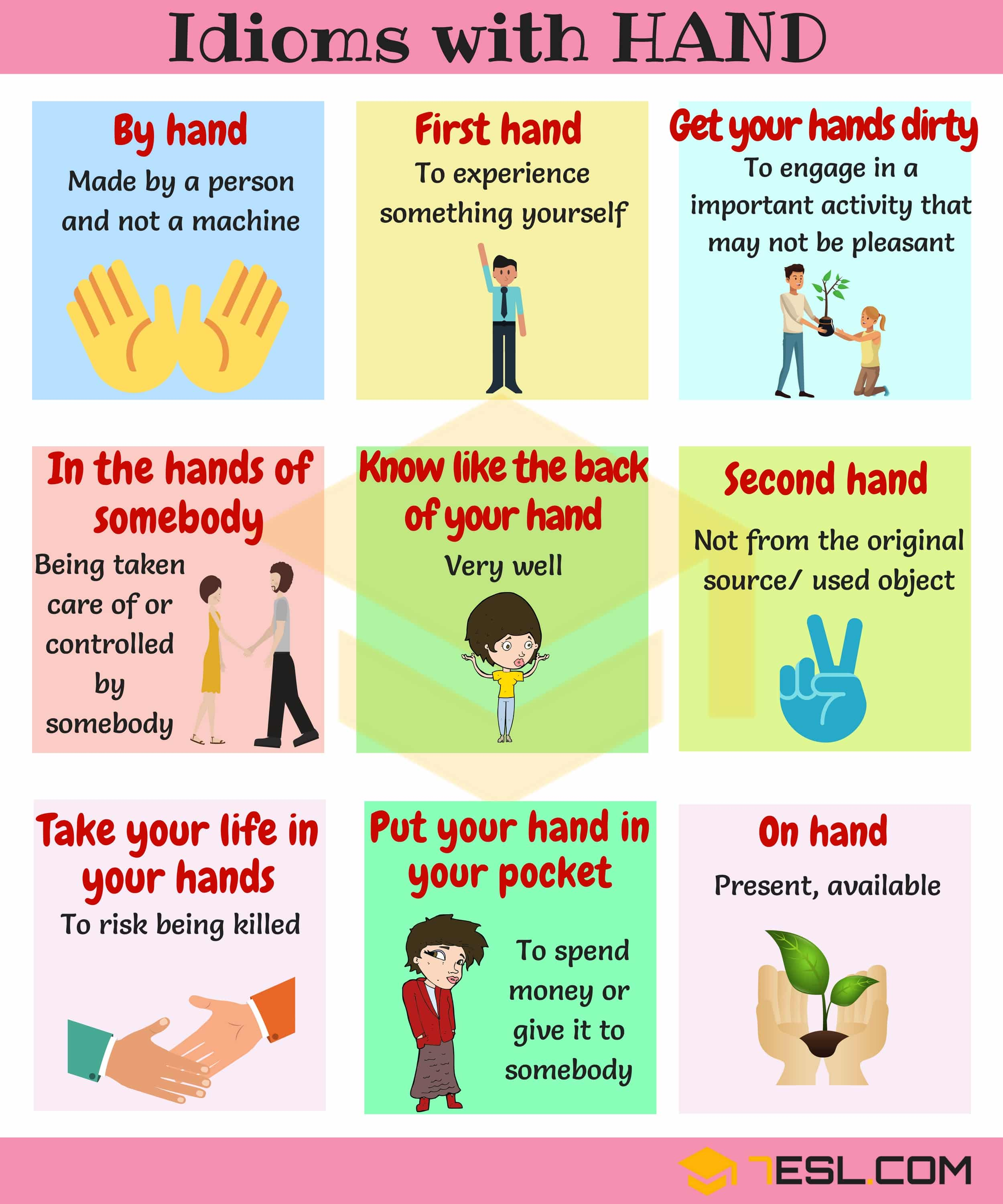 HAND Idioms: 25+ Useful Idioms & Sayings about Hands