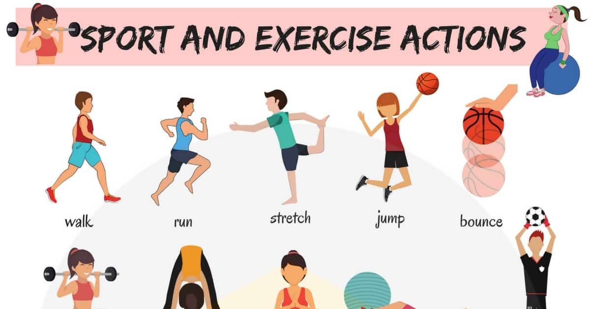 Sport and Exercise Actions Vocabulary in English 19