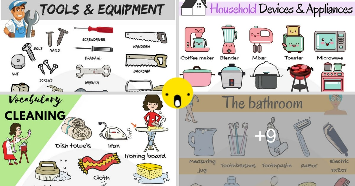 Tools and Equipment: 300+ Household Items, Devices & Instruments 1