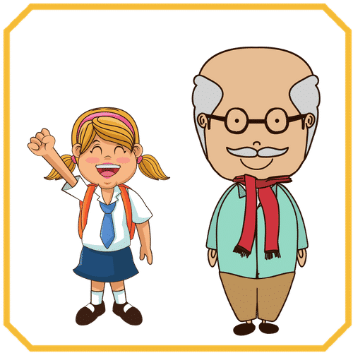 Young And Old Cartoon young - old - 7 E S L