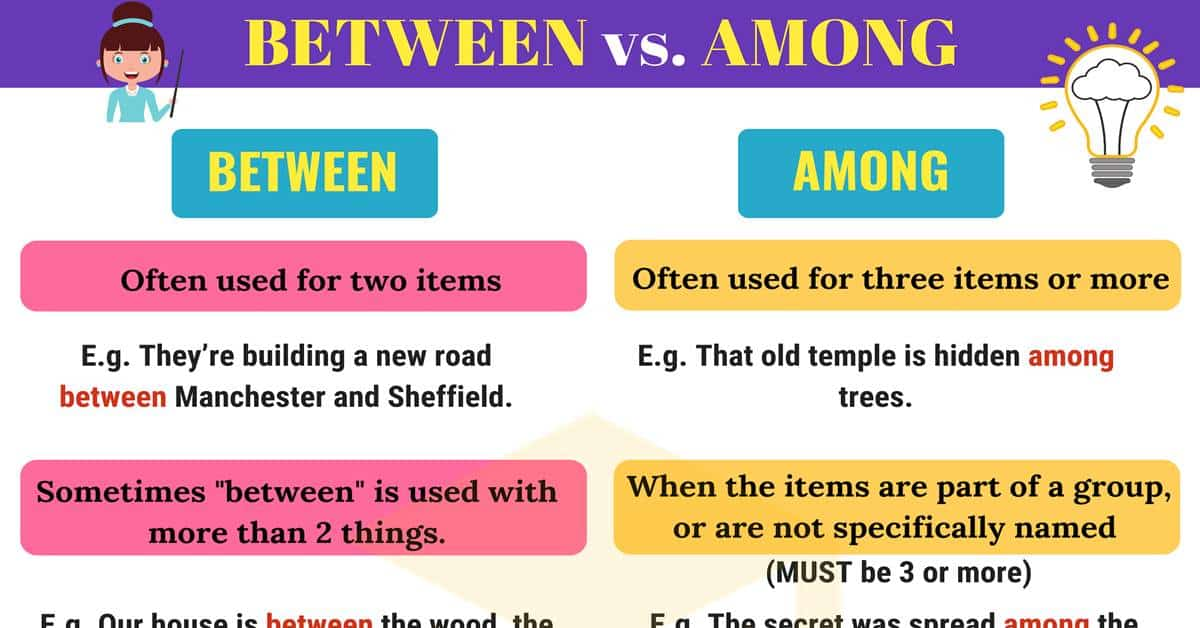 BETWEEN vs. AMONG: The Difference between BETWEEN & AMONG 1