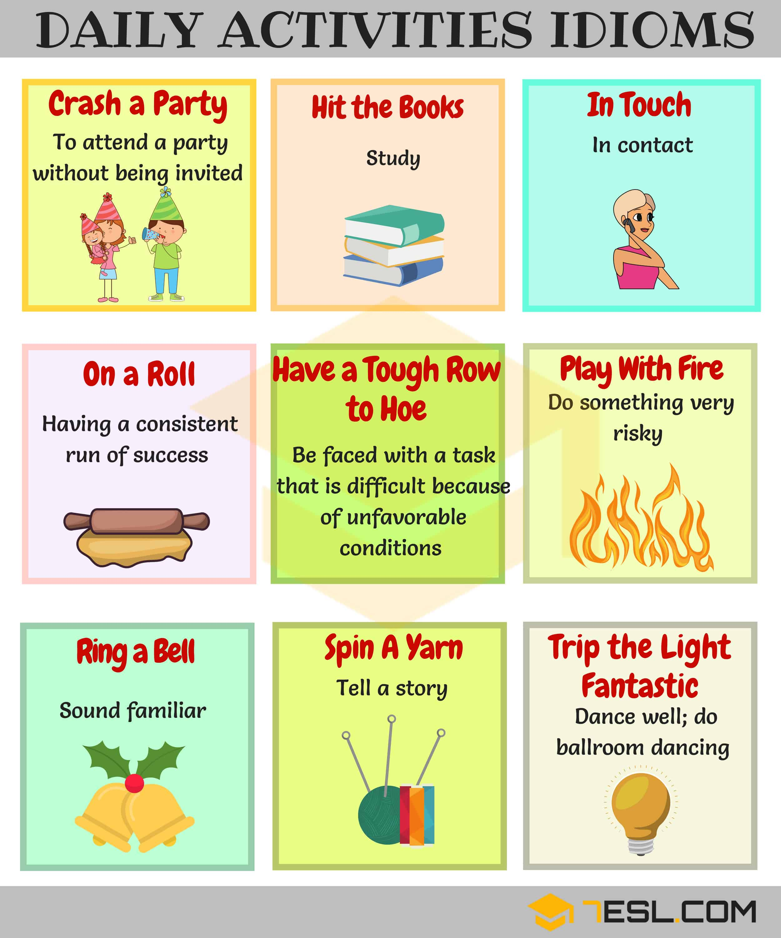 Daily Routines Idioms
