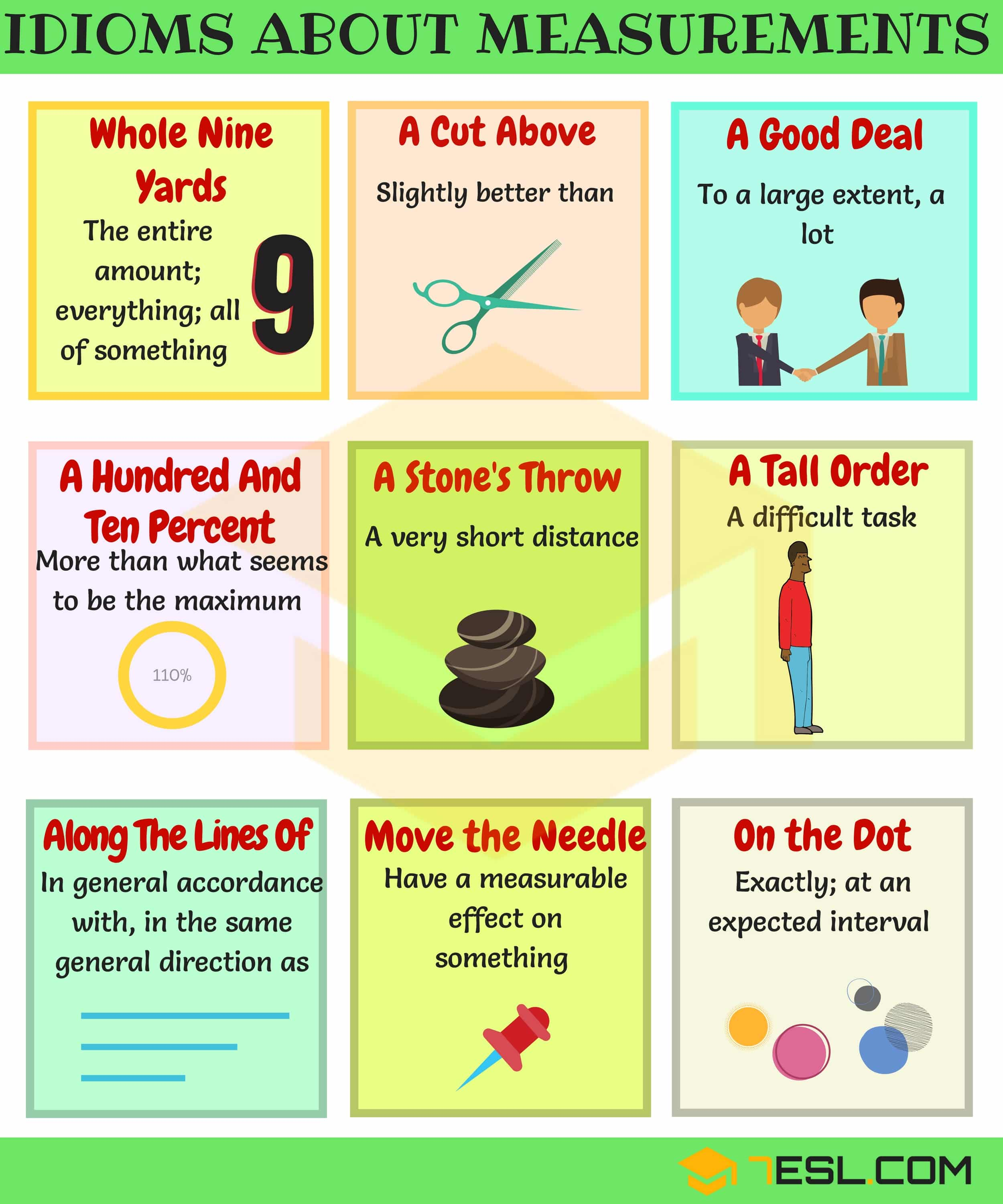 General Idioms | List of Idioms with Meaning and Examples