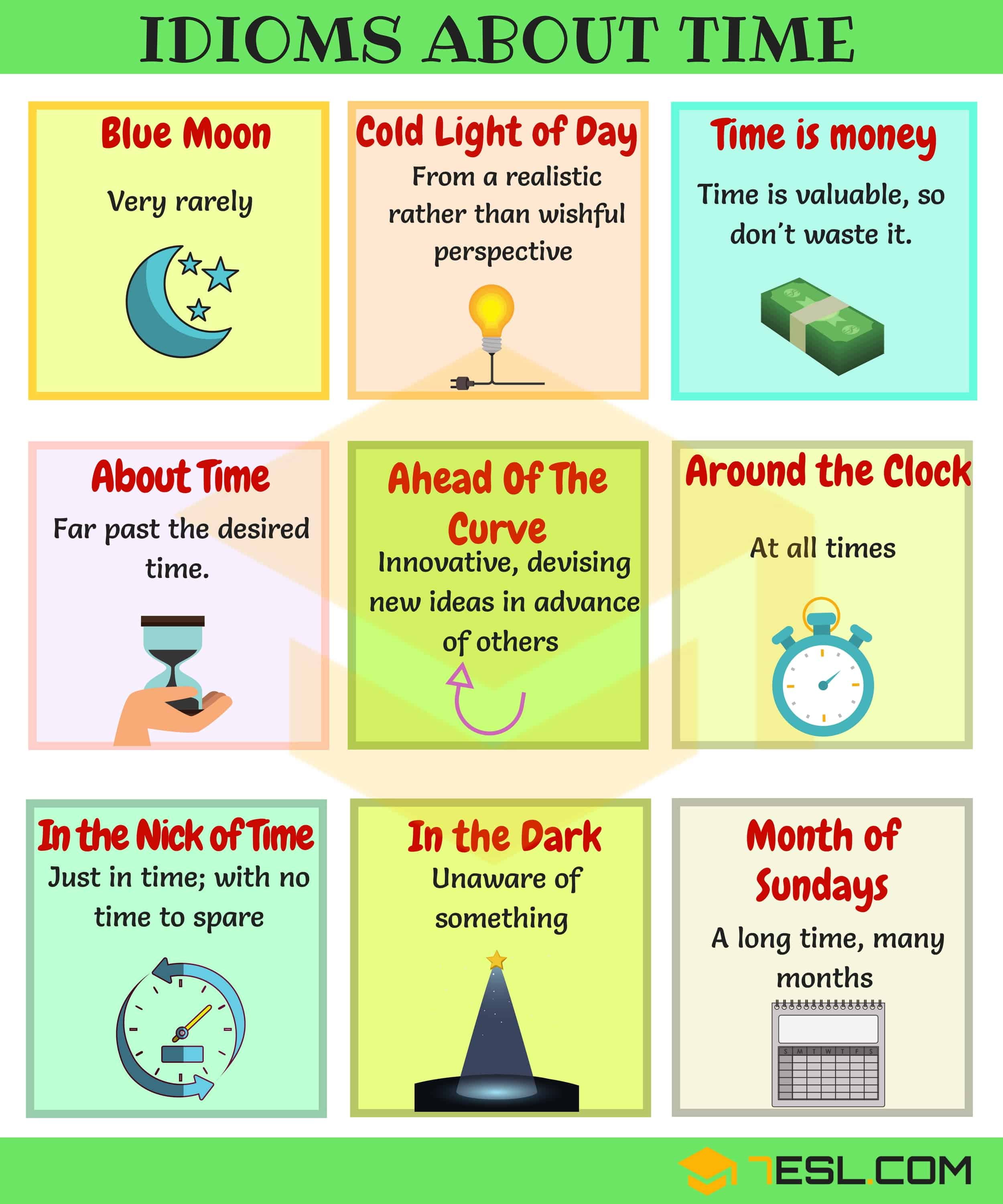 General Idioms | List of Idioms with Meaning and Examples 3