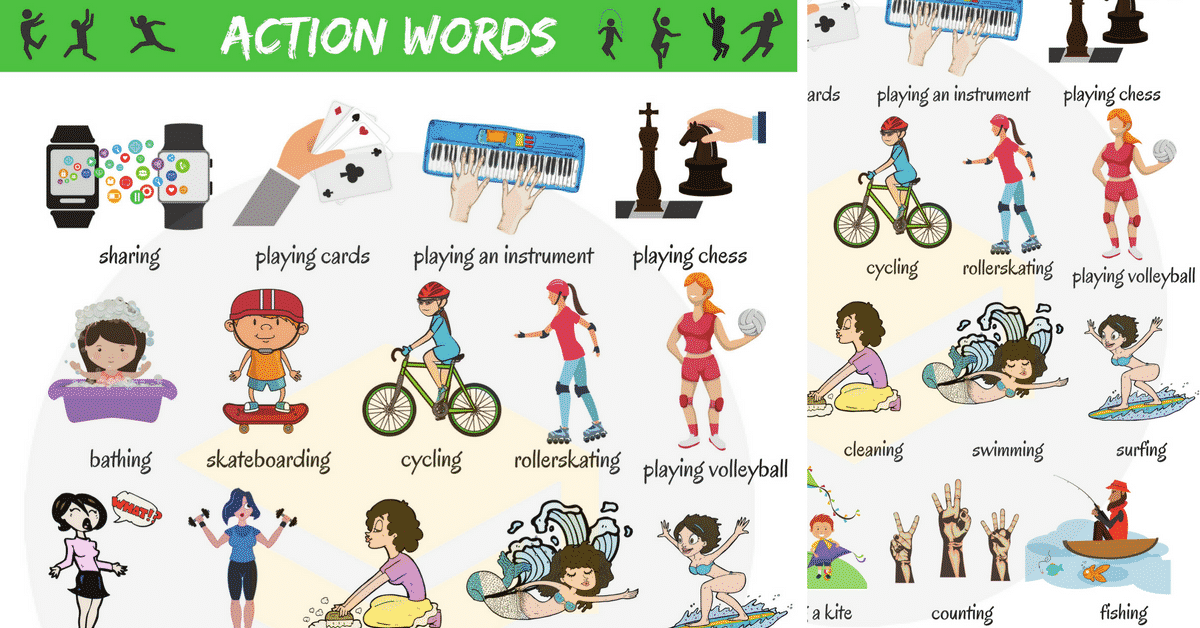 Action Words: List of Common Action Words with Pictures 1