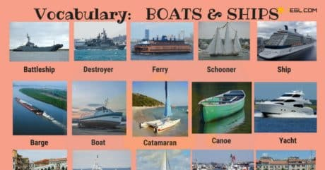English Vocabulary: Types of Ships and Boats (with Pictures) 16