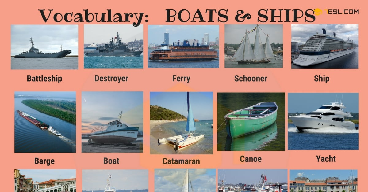 English Vocabulary: Types of Ships and Boats (with Pictures) 1