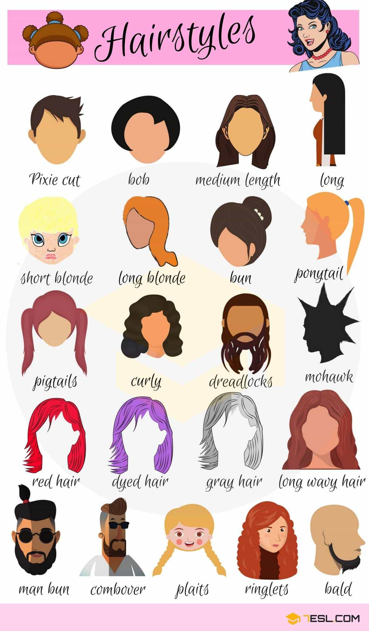 Hairstyle Vocabulary | Image