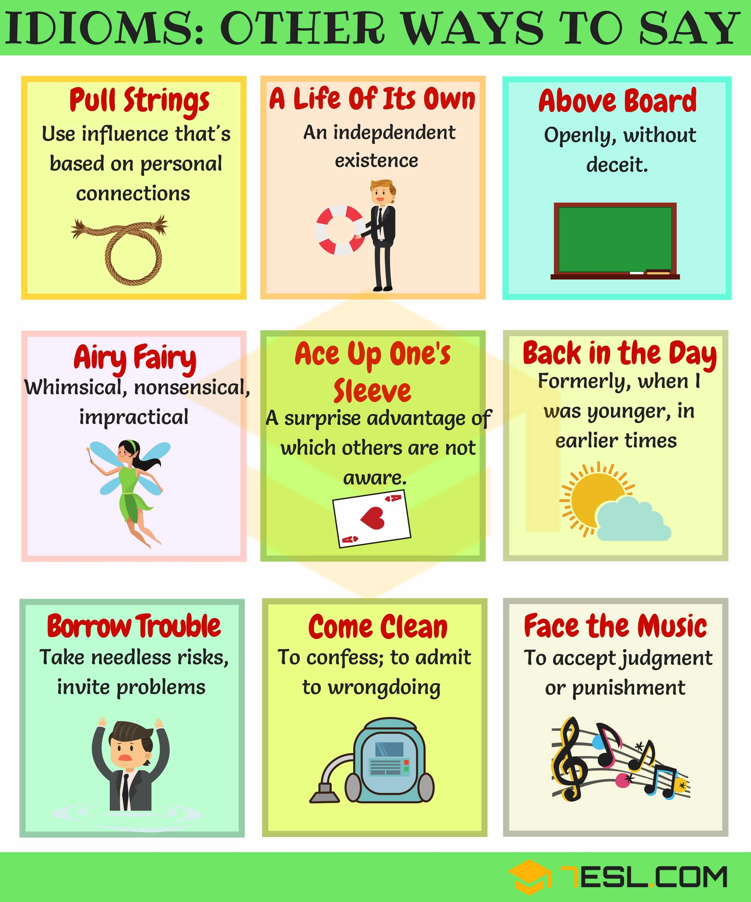 General Idioms | List of Idioms with Meaning and Examples 4