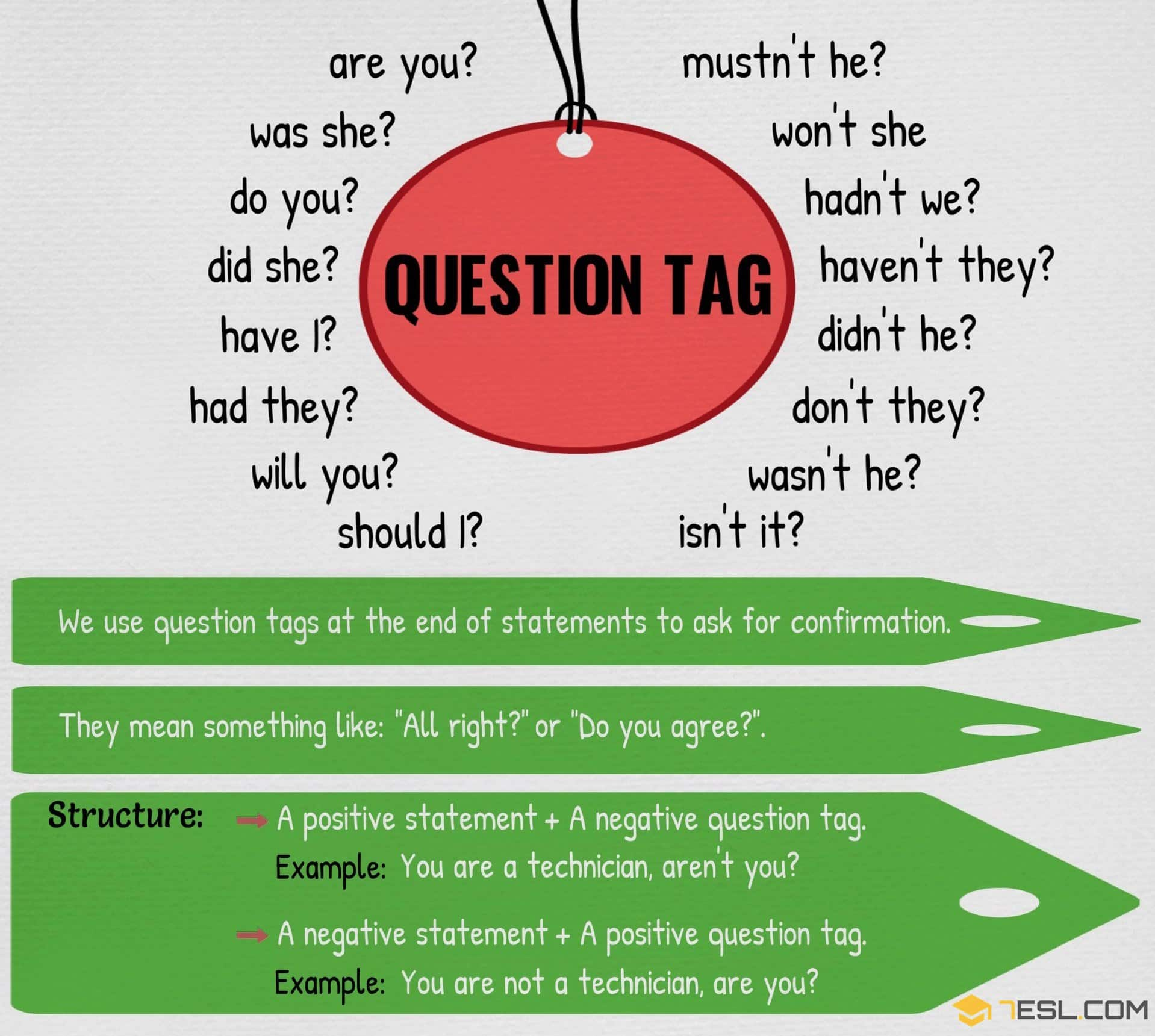 Tag question definition & examples