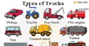 English Vocabulary: Types of Trucks (with Pictures)