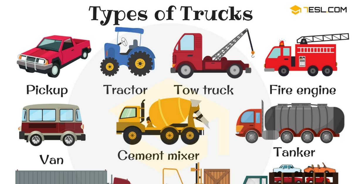 English Vocabulary: Types of Trucks (with Pictures) 1