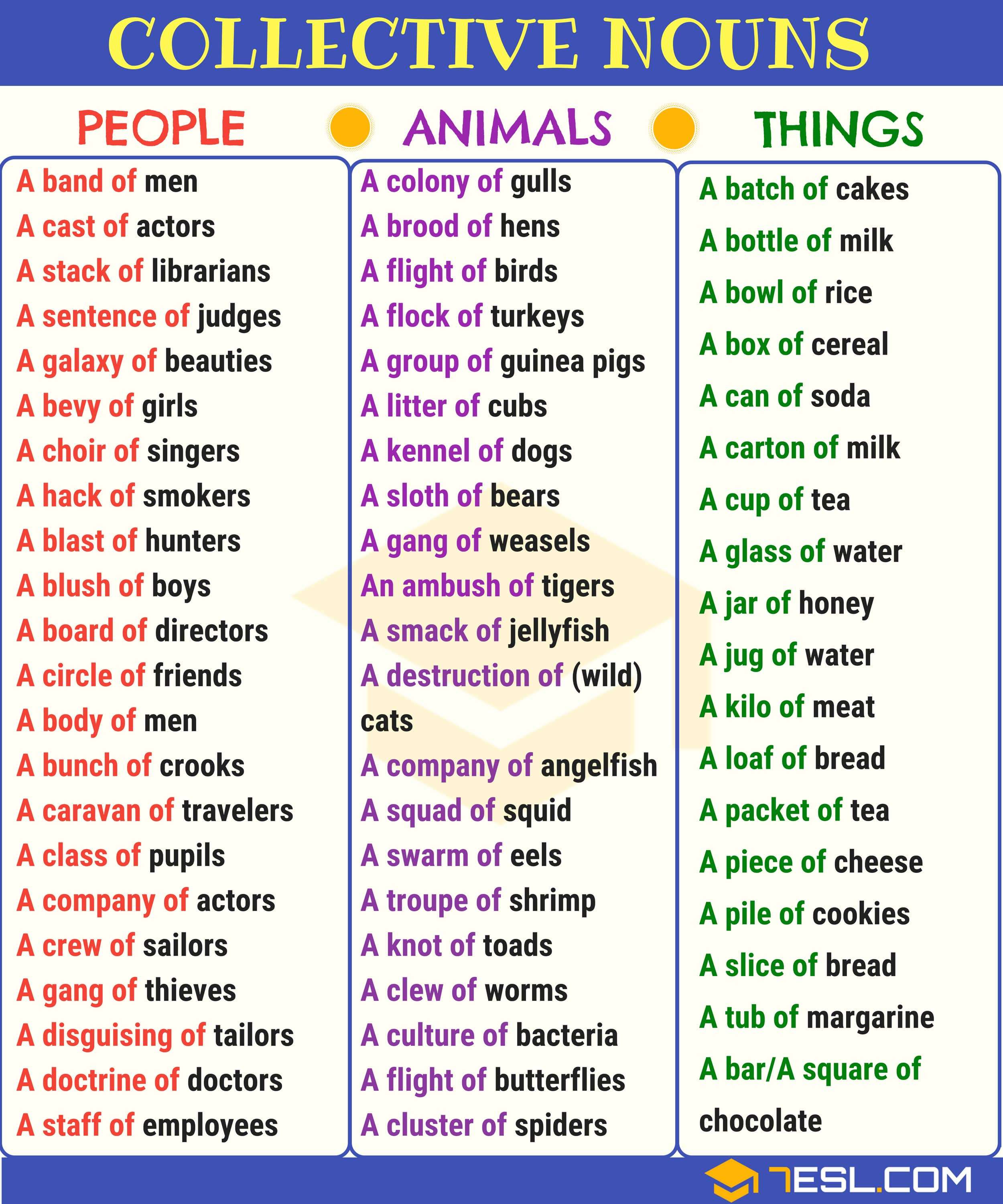 Common Collective Nouns