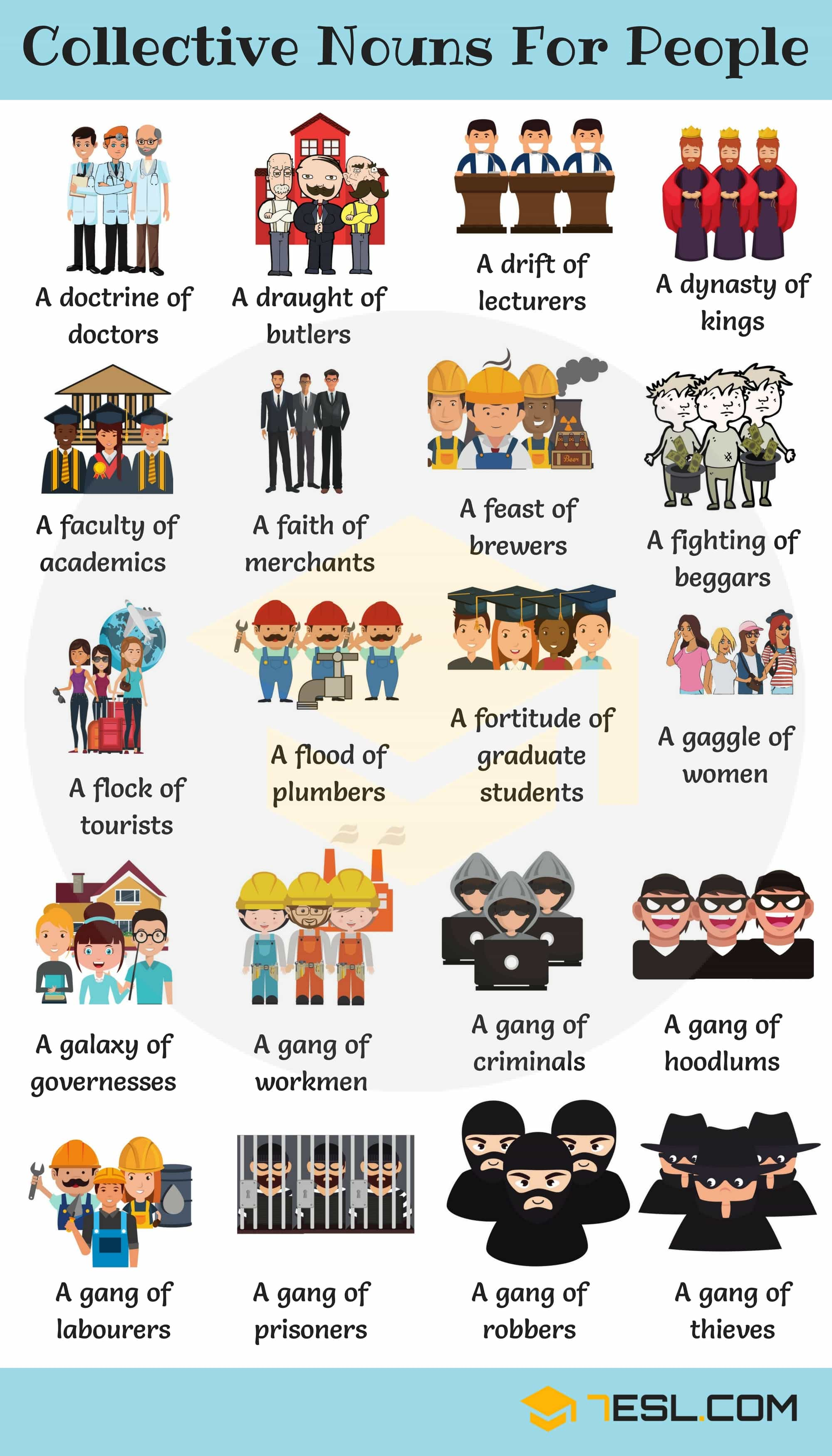 Collective Nouns for People - Groups of People Image