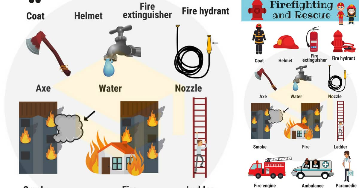 Firefighting and Rescue Vocabulary in English 1