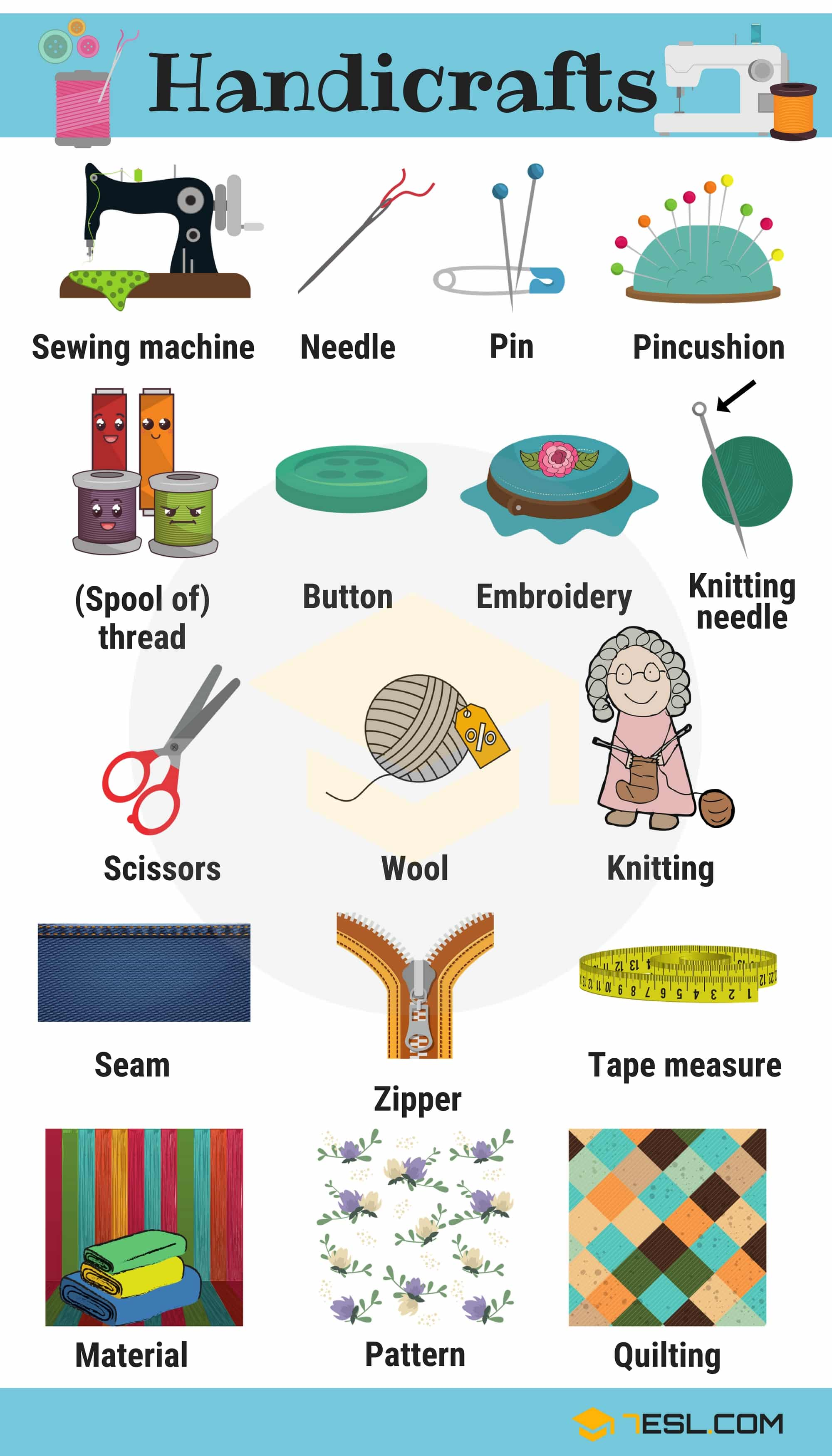 Handicraft Vocabulary