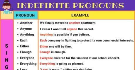 Indefinite Pronouns | Singular and Plural Examples 15