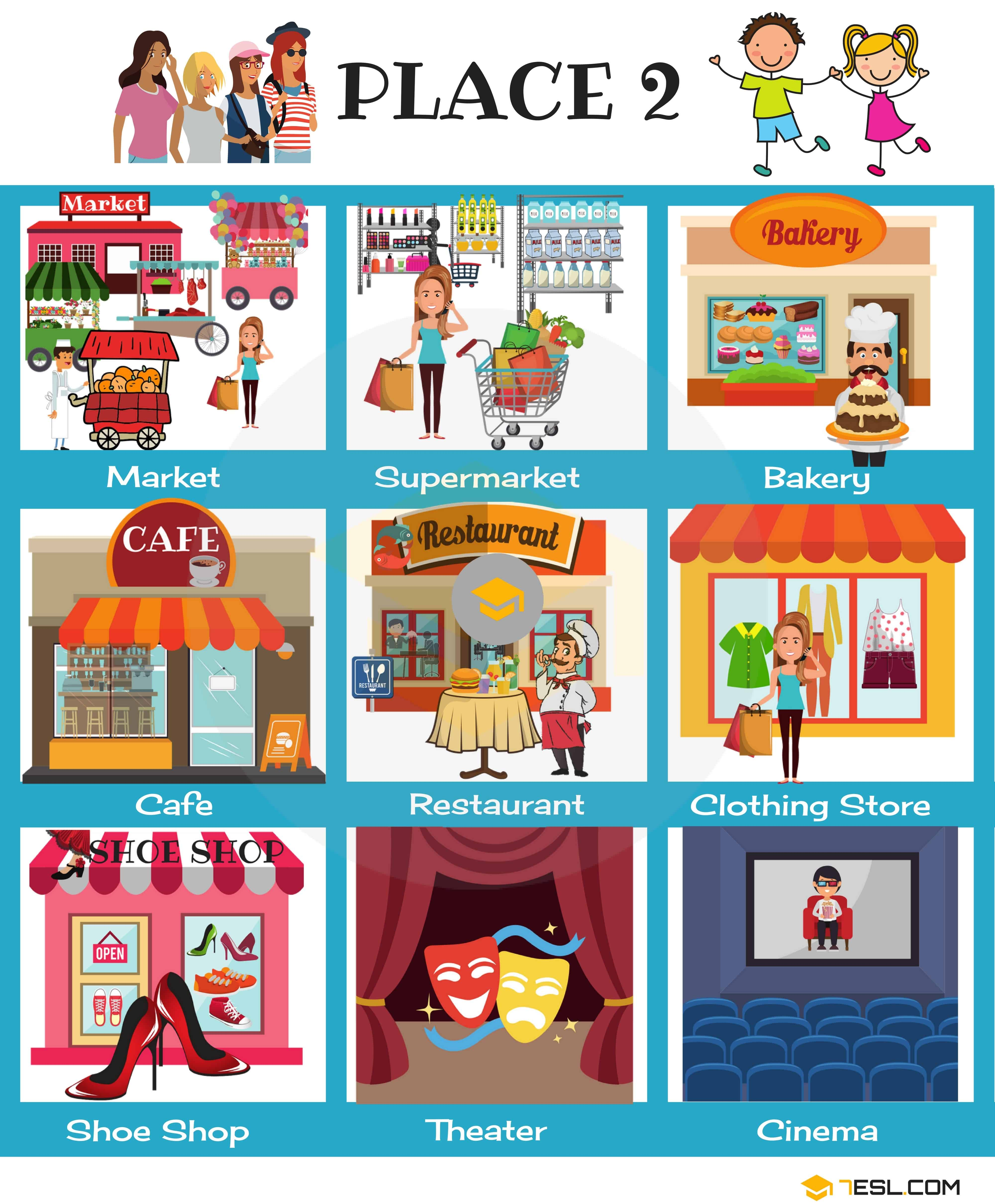 Places in the City Vocabulary in English (with Pictures) 51