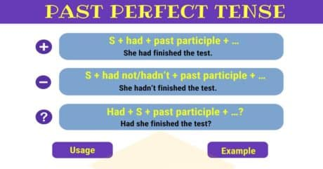 Past Perfect Tense | Grammar Rules and Examples 12