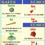 List of 150+ Common Homographs in English (With Examples)