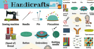 Learn Handicraft Vocabulary with Pictures