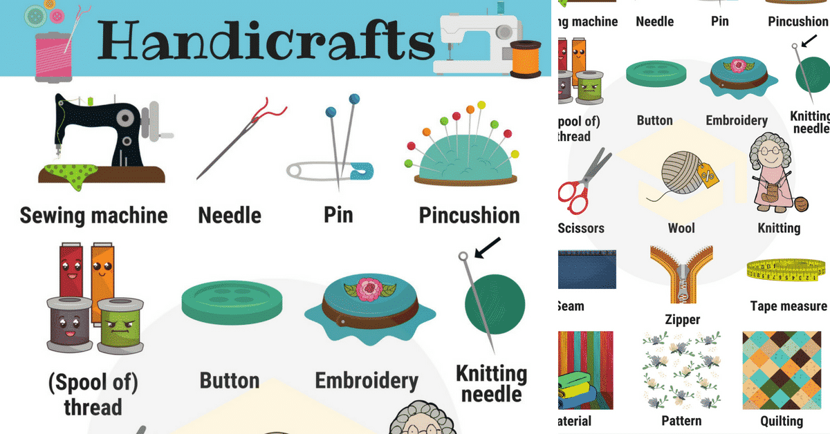 Handicraft: Useful Handicraft Vocabulary with Pictures 1
