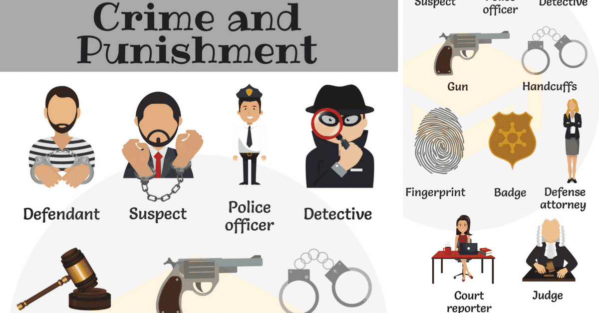 Crime and Punishment Vocabulary in English 26