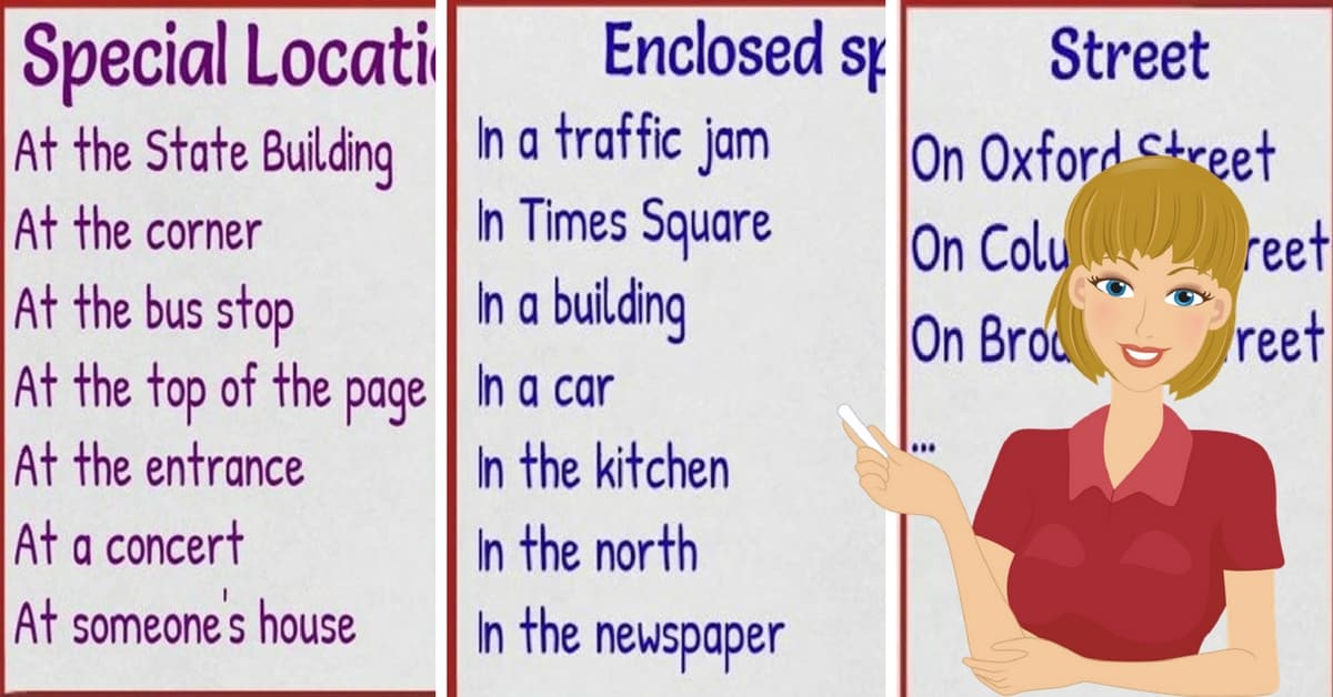 Prepositions of Place IN - ON - AT | Rules and Examples 1