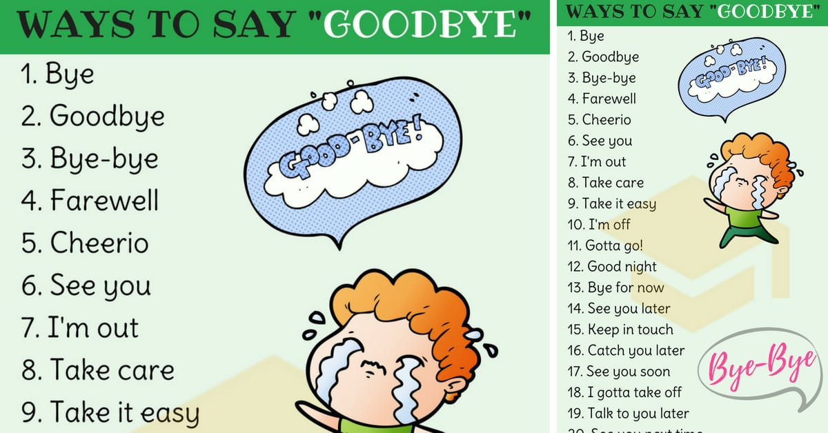 23 Ways to Say Goodbye in English | Goodbye Synonyms 1