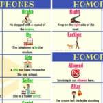 HOMOPHONES: 150+ Sets of Homophones in English