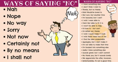 55 Alternative Ways To Say NO to People 1