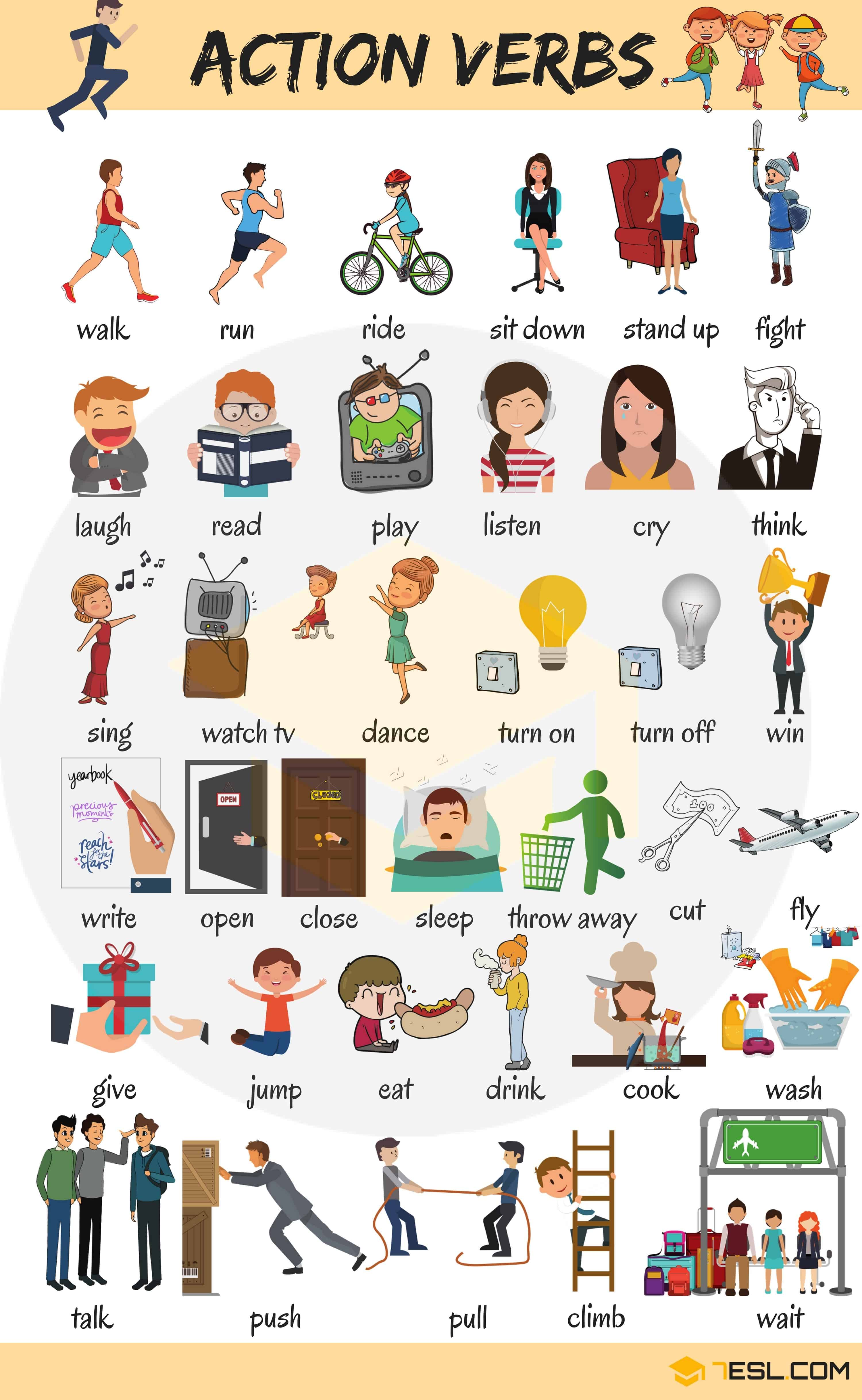 Learn 300+ Common Verbs in English with Pictures 2